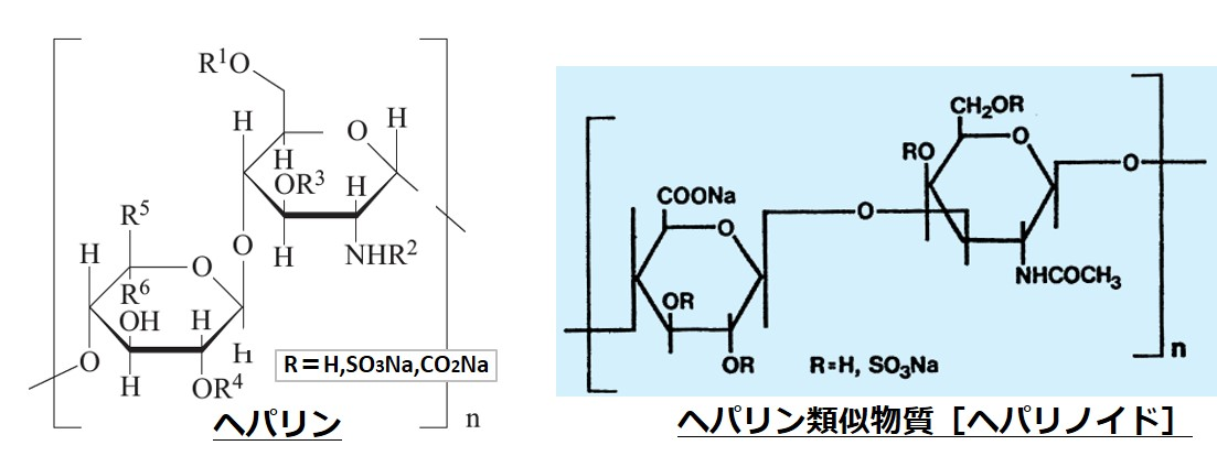 ヘパリン類似物質構造違い