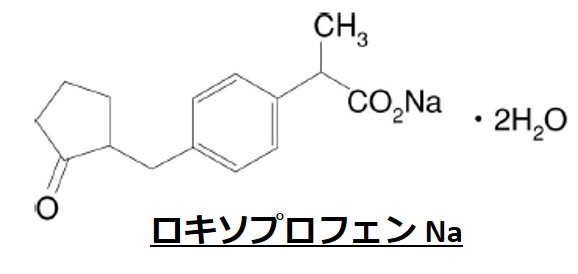 ロキソプロフェンNa構造式