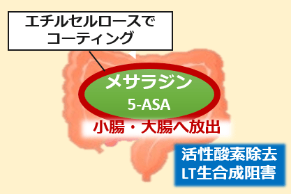ペンタサメサラジン作用機序